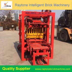 O Qt4-24 Semiautomáticos Espalhadoras Lancis de bloco de intertravamento de máquina de tijolos de Pavimentação