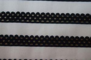 Lmn773 Nylon et de polyester mélangé tricoté rayures jacquard teints en plaine Solided maille stretch tissu élastique
