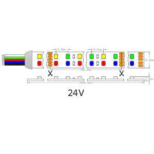 D-Riga indicatore luminoso del Ce dell'UL di striscia flessibile di SMD 1210 RGBW LED