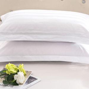 Lenzuolo 100% bianco su ordinazione all'ingrosso del cotone della banda della fabbrica impostato (JRD031)