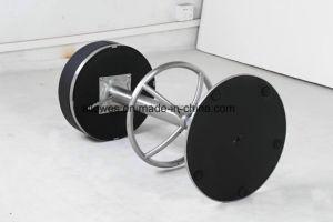 Sgabelli di barra rotondi spazzolati metallo poco costoso della parte girevole della molla di gas della sede dell'unità di elaborazione dell'acciaio inossidabile della cucina