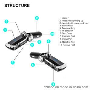 Reproductor de MP3 inalámbrico de manos libres Bluetooth el transmisor de FM cargador de teléfono