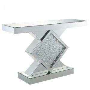 미러 세트를 가진 Nysa 다이아몬드 콘솔 테이블