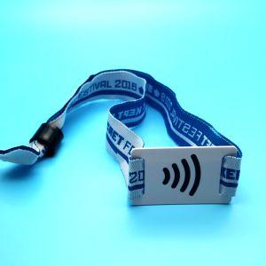 RFID NFCのイベントによって編まれるリスト・ストラップをカスタム設計しなさい