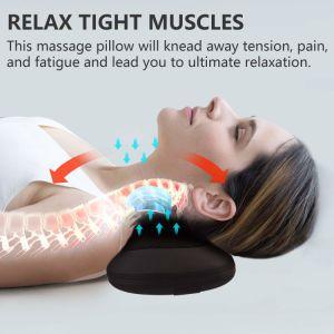 Amasar asiento masajeador Shiatsu masaje de espalda hombros cuello almohada
