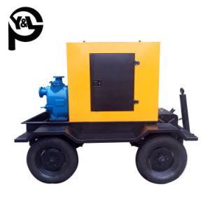 На прицепах с самозаливкой дизельного двигателя центробежный насос очистки сточных вод