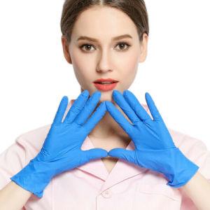 El precio barato de alta calidad sin polvo Guantes de examen con textura de los dedos Guantes de nitrilo
