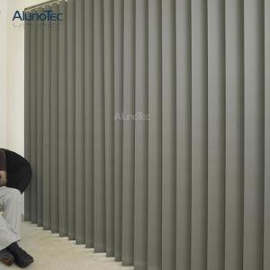 Порошковое покрытие алюминиевых вертикальных жалюзи Sun для монтажа на стену оболочка