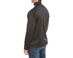 La moitié des hommes fermeture éclair laine polaire veste de pontage