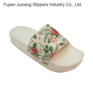 Los bordados de las mujeres zapatillas con suela de EVA superior PU