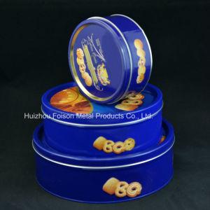 OEM om Tin voor de Verpakking van het Voedsel, de Doos van het Tin van de Gift van het Metaal, het Blik van het Tin van het Koekje