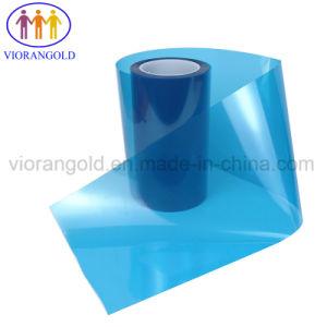 25um-125um Blue película protectora de animales de compañía con adhesivo acrílico/silicona para proteger la pantalla de vidrio plástico