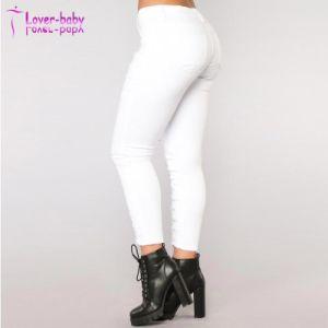 Medio largo pantalones vaqueros de cintura vendaje