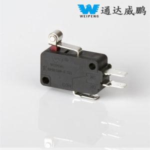 3 pines de alta calidad Spdt-Transfer 16A 250V Micro interruptor de cerezas con corta Palanca de rodillo de metal