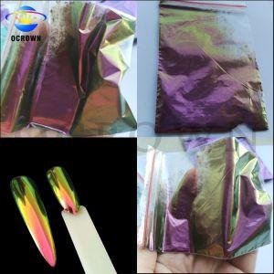 Cambio de color super brillante efecto espejo de pigmento en polvo de camaleón para Nail Art