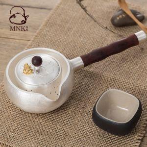 銀製の鍋水やかんのやかん水鍋の茶鍋