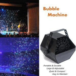 Efecto de la burbuja de hermosa decoración de bodas la etapa de la máquina de burbujas