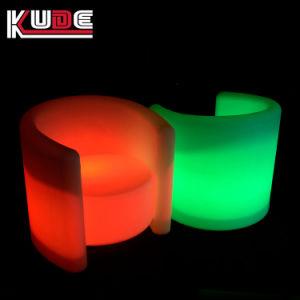 빛을내는 호화스러운 옥외 LED에 의하여 조명되는 가구 빛을내는 소파