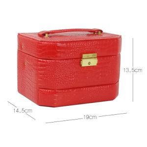 ローズ新しい流行の敏感なPUの革装飾的な記憶の構成ボックス