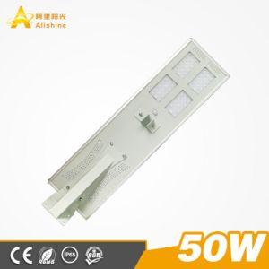 Integriertes 50W LED Solarstraßenlaternedes MonoSonnenkollektor-mit Batterie des Lithium-LiFePO4