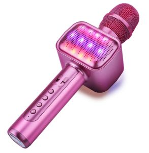 Karaoké avec son microphone sans fil activé Flash Light