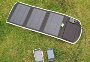 Original de fábrica del teléfono móvil Solar cargador de Banco de potencia 14W 5V 2000mA 800mA