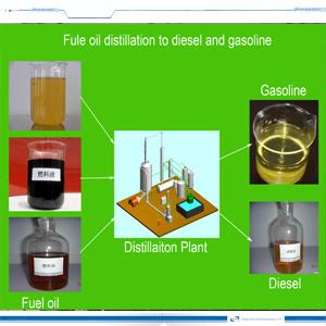 Hot-Sale сырой нефти дистилляции завод 10т в день получения дизельного двигателя