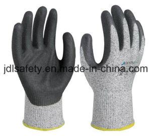 Handschoenen van het Werk van de Veiligheid van de besnoeiing de Bestand met Met een laag bedekt Nitril (NDS8048)