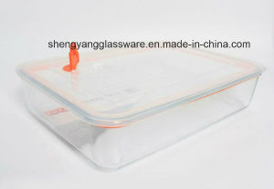 quadratische Hitzebeständigkeit3pc stellte GlasCrisper mit Kappe ein