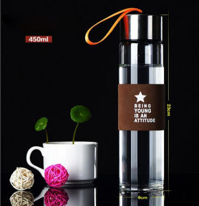 Mann Blow Portable Customized Glass Bottle für Promotion Gifts