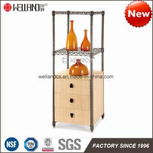 Casa moderna cocina Steel-Wooden patentes Mobiliario de almacenaje Rack