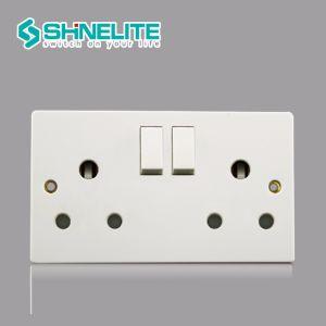 Bakélite British Standard 15un socket socket de broches rondes