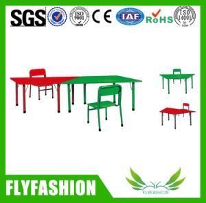 Preiswerte bunte Kind-Paralleltrapez-Tisch-Kind-Möbel