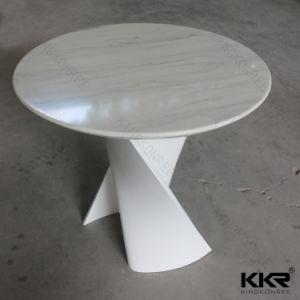 Маленький белый камень мрамор Верхний круглый обеденный стол (180409)