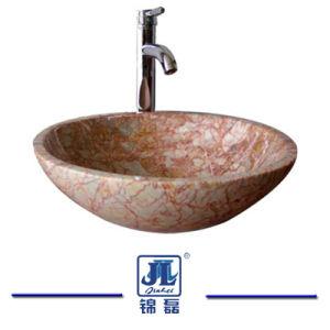 浴室のための縦の円形のMrableの洗面器か台所または洗面所