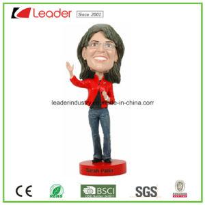 Jugador de béisbol Polyresin Popular muñeco Bobblehead figurillas Estatua de la decoración del hogar, hacer su propio Bobble Head