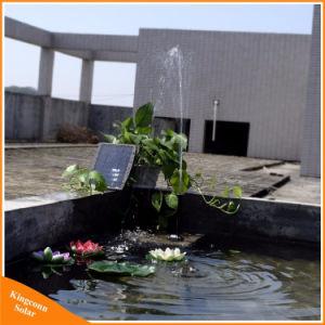 装飾的な水小型太陽電池パネルの噴水ポンプ9V 2.5W太陽庭のプールの景色の水ポンプ