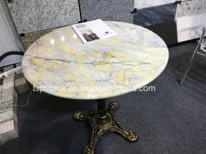 Pierre de Marbre Granit/café et le dîner Table ronde de haut pour l ...