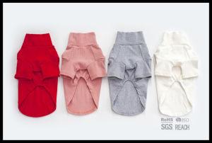 Tricots neufs de vêtements sport de chemise de gilet de coton de crabot d'animal familier de mode