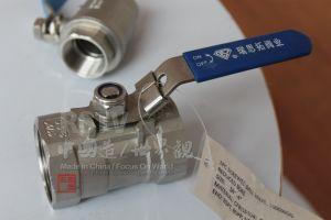 L'acciaio inossidabile riduce la valvola a sfera manuale 1PC del filetto Port