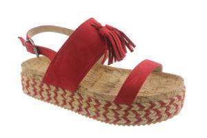 Corde Mesdames filtre en coin coin de chanvre sandale Espadrille Tassel chaussures