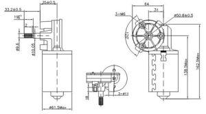 24V 77rpm 4nm (MB062FF100-WD0055-06)のDCのワームギヤモーター