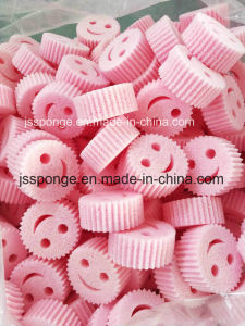Polyester sourire visage Gommage Cuisine éponge de nettoyage