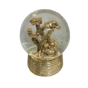 De in het groot Bal van Woter van het Glas van de Kunsten van de Hars, de Bol van het Water van de Sneeuw voor de Decoratie van Kerstmis