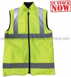 Het omkeerbare hallo (Weerspiegelende) Vest van de Mensen van de Veiligheid van de Voorraad van Vis Workwork
