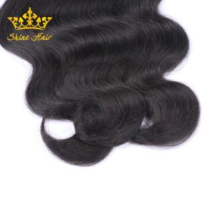 Haute qualité Remy Cheveux humains brésilien en couleur Balck #1b