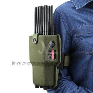 En primer lugar mundial de 12 antenas todo-en-uno lleno de mano de bandas Jammer Teléfono móvil con Lojack WiFi GPS bloqueando las señales de RF 315/433/868 (control remoto).