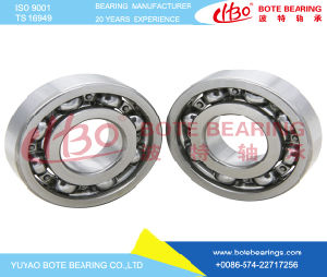 Roulement à billes en acier chromé pour machines textiles (6200 ZZ/RS/OUVERT)