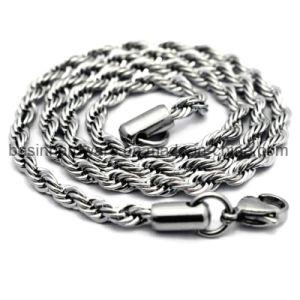 Catena a maglia della corda dell'acciaio inossidabile delle donne 2mm 3mm 4mm