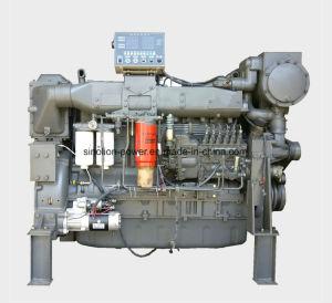 Motor diesel marino 6 cilindros de 295kw 1800rpm